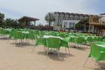 Пластмасови зелени столове, за заведения