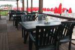 Пластмасови зелени столове за кефенета