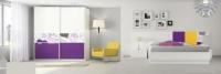 Спалня в два цвята - бяло и лилаво