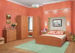 Поръчка на спалня в прасковено с ъглов гардероб 431-2618